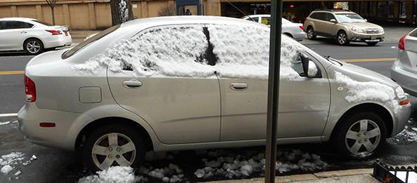 carro com neve