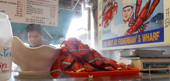 barraca de comida - lagostas